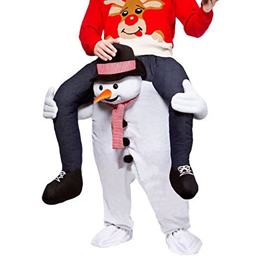 Snowman Christmas Costumes Ride-on Animal Party Piggyback Cosplay Clothes Halloween Carnival Father Adultos Santa Claus Dress Up adult christmas santa claus costumes flocking rabbit fur fancy cosplay santa claus clothes good quality costume christmas suit