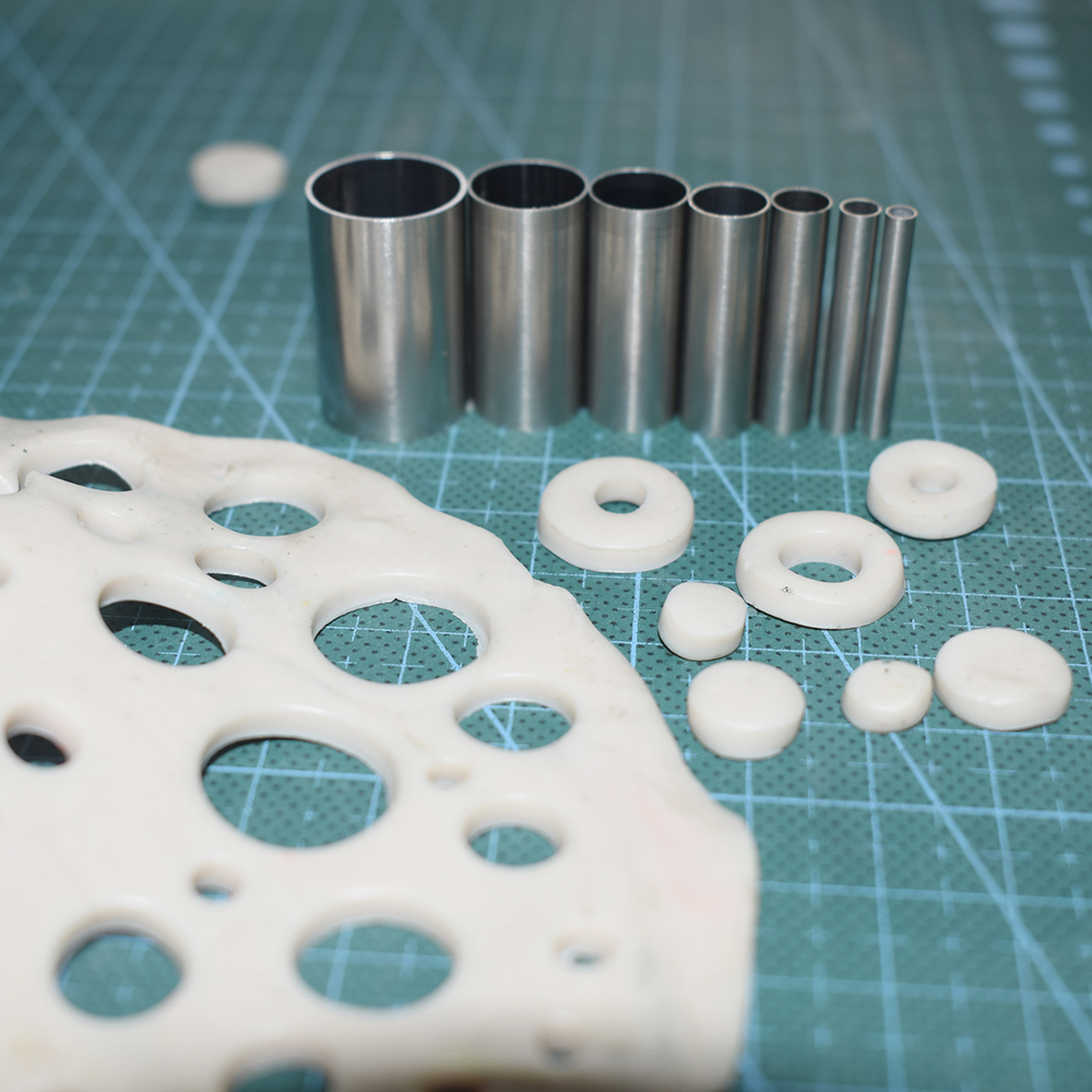2mm 15mm 7pcs Stainless Steel Mini Round Clay Cutter DIY hollow punch Klei Ceramica Pottery Fimo Polymer Clay Tools in Pottery Ceramics Tools from Home Garden