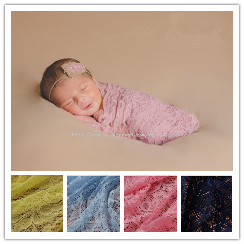 HOT!Newborn Photography Props Wrap, Baby Wraps Stretch Embroidery Lace Wrap 10 COLOR  basket photography scarf