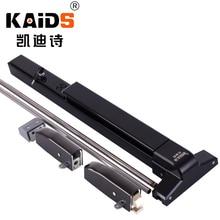 цена на KAIDS Iron paint Fire Escape Doors Lock Push Bar Panic Exit Lock with alarm function