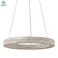 Dia100/120cm Luxury Round Villa Lustre Crystal Led Pendant Light Lustre Luminarias Lamparas Hanging Lamp Suspend Lamp Fixtures
