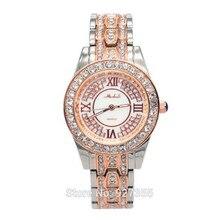 Nuevo 2017 mujeres de lujo vestido de los hombres relojes, señoras de la manera del reloj del rhinestone, joyería del diamante mashali relojes de pulsera, reloj de pulsera