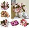 Fashion Heaven 1Bouquet 8 Heads Artificial Peony Silk Flower Leaf Home Wedding Party Decor Jul 11