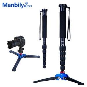 Image 1 - Manbily A 555 160 cm/63 inch Aluminium Reizen Monopod Statief Eenpootstatief Stok, KB 0 Balhoofd, m2 Base voor Canon Nikon Sony DSLR Camera