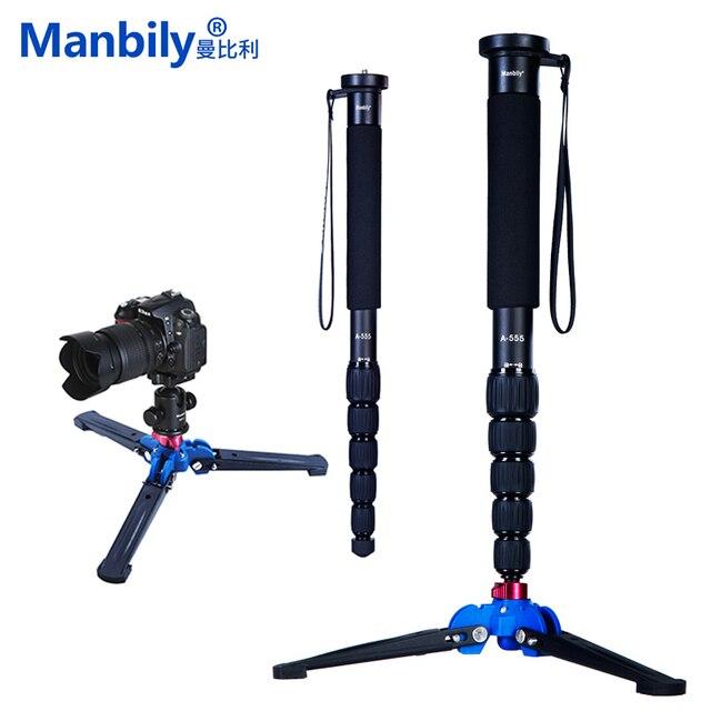 Manbily A 555 160 cm/63 inch Aluminium Reizen Monopod Statief Eenpootstatief Stok, KB 0 Balhoofd, m2 Base voor Canon Nikon Sony DSLR Camera