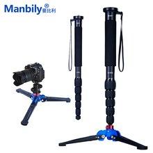Manbily A 555 160 cm/63 zoll Aluminium Reise Einbeinstativ Stativ Einbeinstativ Stick, KB 0 Kugelkopf, m2 Basis für Canon Nikon Sony DSLR Kameras