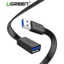Ugreen USB 3,0 кабель Плоский USB кабель-удлинитель мужской и женский кабель для передачи данных USB3.0 кабель-удлинитель для ПК ТВ USB кабель-удлинитель