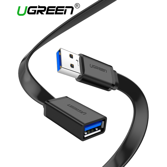 Ugreen USB 3.0 Cáp Phẳng Cáp USB Mở Rộng Nam đến Cáp Dữ Liệu Nữ USB3.0 Extender Cord cho PC TV USB cáp mở rộng