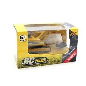 Image 5 - RC Trucks 1:64 Remote Control Construction Car Mini Excavator Simulation Model Engineering Car Digger Toy Crane Bulldozer