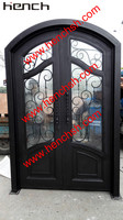 Hench Private Design Luxury Villa Wrought Iron Entry Doors V T15