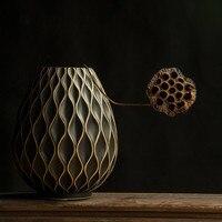 European style ceramic vase ornaments modern minimalist fashion living room creative black table floral flower decoration