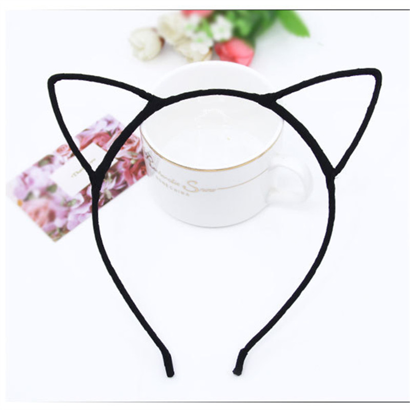 Novelty Trend Cute Cat Ears Headband Hair Hoop Small Satan's Head Hoop Hole Hairband For Girl Ladies Bezel Hair Equipment