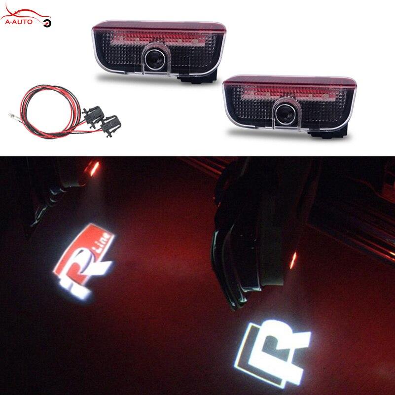 2x LED Car Door Welcome light logo projector for Volkswagen VW Golf 5 6 7 Tiguan CC JETTA MK5 MK6 Passat B6 B7 Touareg Scirocco источник света для авто eco fri led 2 x canbus t10 w5w samsung 5630 smd vw golf 5 6 jetta 3c passat cc b7 tiguan bmw benz audi