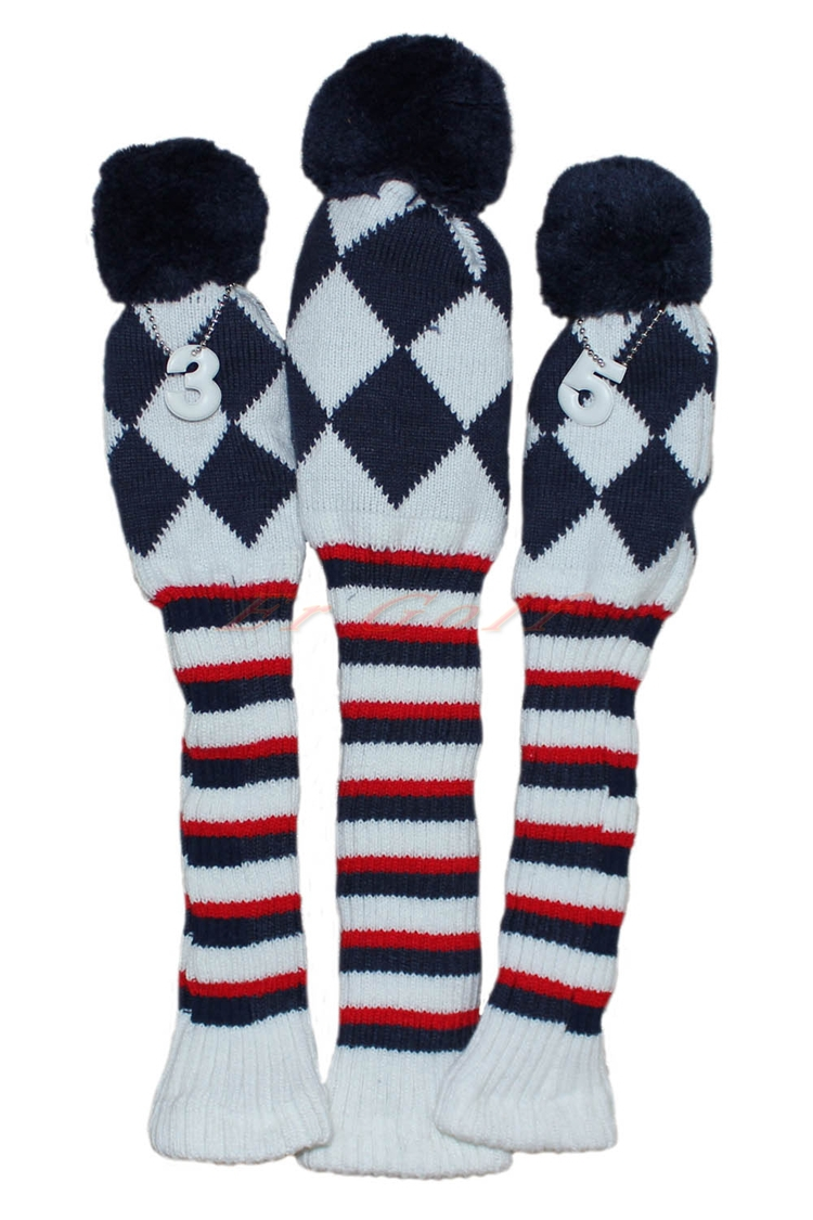 1 3 5 one set new pom pom head covers knit sock navy blue golf 1 3 5 one set new pom pom head covers knit sock navy blue golf club cover headcovers in club heads from sports entertainment on aliexpress alibaba bankloansurffo Gallery