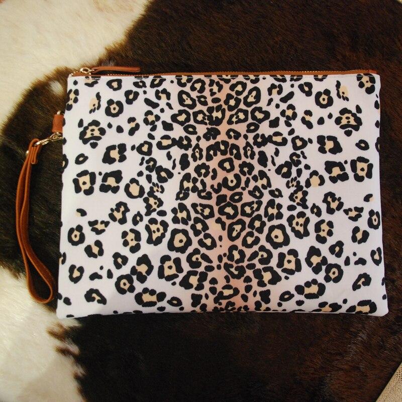 Avec Blanc D'embrayage Imprime Glissière Portefeuille Gros Fermeture Pochette À Léopard domil1010875 Toile Guépard Cas pBndqdzxS