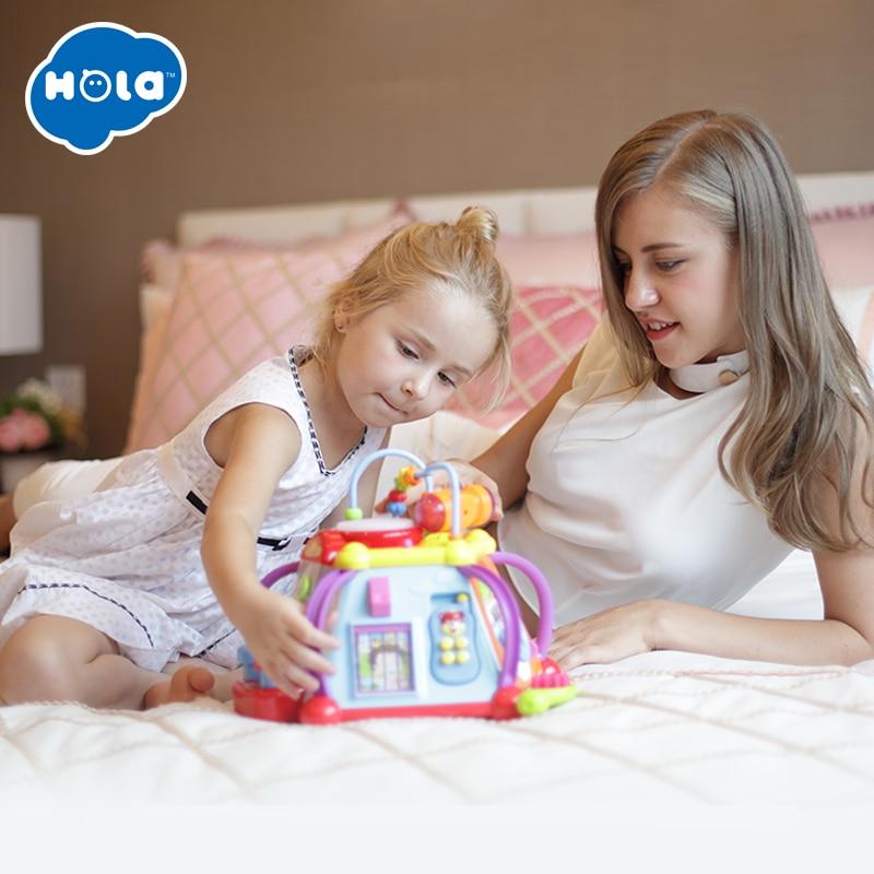 HOLA 806 activité musicale Cube jouet développement jeu éducatif jouer Center d'apprentissage jouet pour 1 an bébé enfant en bas âge garçons filles