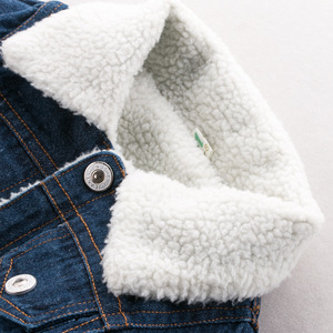 Image 2 - Dimusi zimowa kurtka dżinsowa chłopcy dżinsy kurtki Retro dodatkowo pogrubiony aksamitna kurtka dżinsowa dzieci taktyczne ciepłe wiatrówki płaszcze dżinsowe