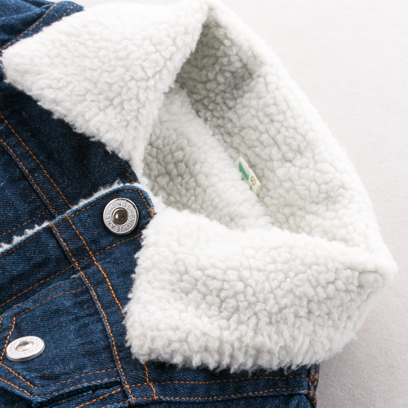 Image 2 - Dimusi/зимняя джинсовая куртка; джинсовые куртки для мальчиков в стиле ретро; джинсовая куртка из плотного бархата; детская тактическая теплая джинсовая ветровка; пальто-in Куртки и пальто from Мать и ребенок