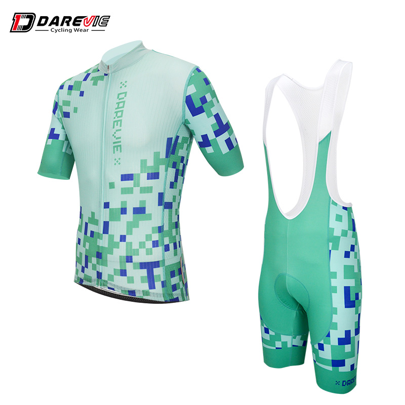 цена на Darevie latest summer man cycling sets breathable Italian Miti fabric bike suits top quality cycling kits