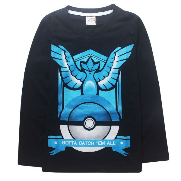 2016 Pokemon Boys full long sleeve t shirt hoodie tees autumn winter spring tshirt blouse sweatshirt Size for 3 4 5 6 7 8 Years (5)