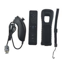 For Wii 2 in 1 Remote Controller Without Motion Plus Bluetooth Wireless Remote Controle For Wii Nunchuck Gamepad