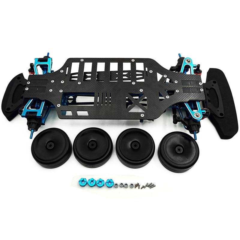 Newest Alloy Carbon Shaft Drive 1 10 RC Touring Car Frame Kit for TT01 TT01E For