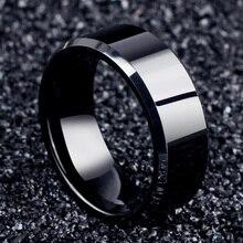 Fashion Charm Jewelry Black Rings for Women Ring Men Titanium