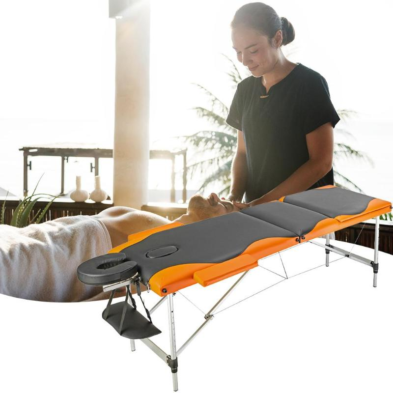 Professional Portable Folding Massage Table SPA Beauty Bed Salon Furniture Wooden 185cm Length 60cm Width