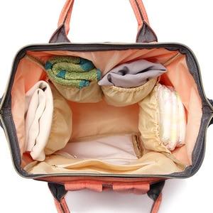 Image 4 - حقيبة حفاضات الطفل حقيبة الحفاضات للأمهات ذات سعة كبيرة حقيبة حفاضات للأطفال تصميم أنيق حقيبة للأم