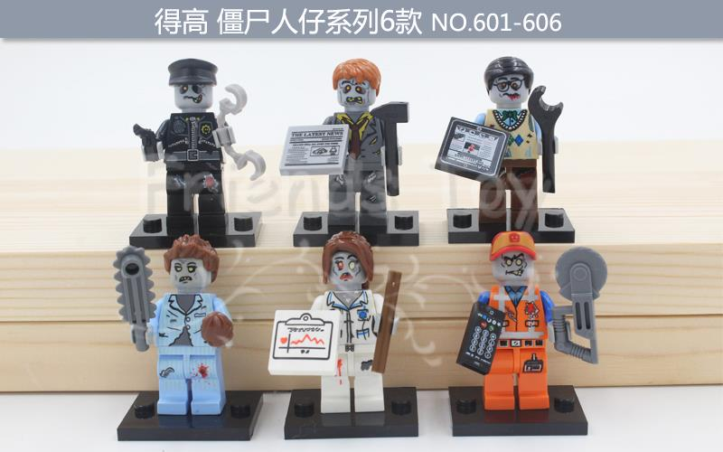 Image 3 - ZOMBIE WORLD Emmet Sleepyhead Nurse Walking Dead Figure Building Bricks Toys Compatible With Lego Movie Block-in Blocks from Toys & Hobbies