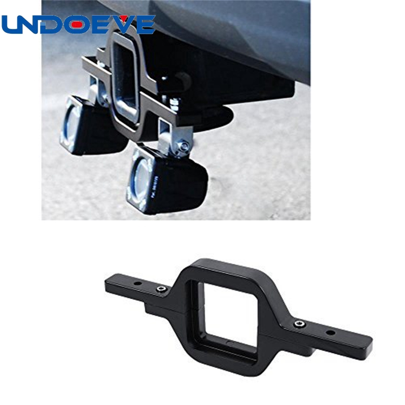 Tow Hitch Mount Bracket For Dual 18W Pod LED Backup Reverse Search Offroad Light