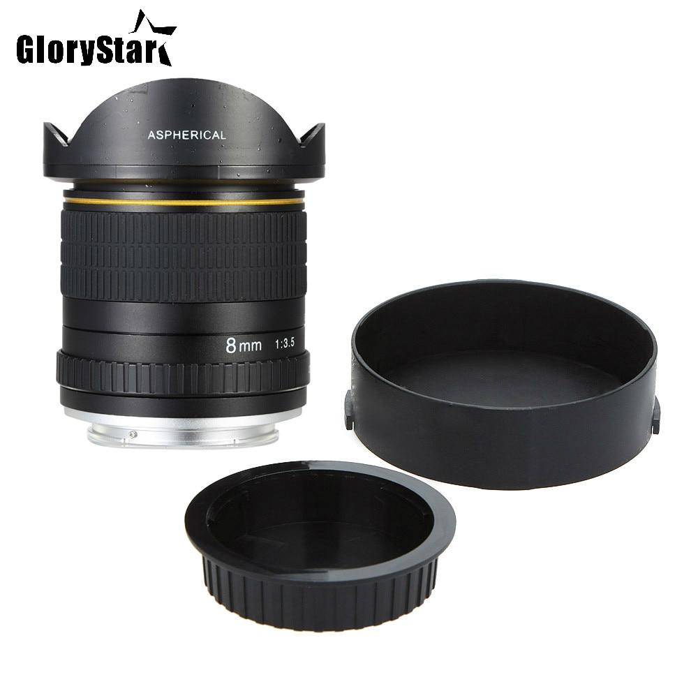 Glory Star 8mm F/3.5 lentille de caméra circulaire asphérique objectif Fisheye Ultra large pour les appareils photo Canon DSLR 550D 650D 750D 77D 80D 1100D