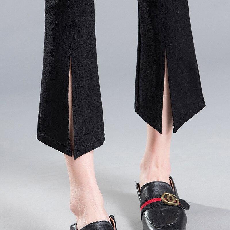 Ketika mikro pinggang tipis celana wanita tidak teratur hem celana - Pakaian Wanita - Foto 5