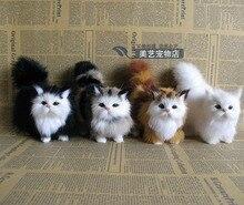 simulation cat model,polyethylene& furry fur 12x6x12cm lovely cat handicraft toy,prop,home Decoration,Xmas gift b3686