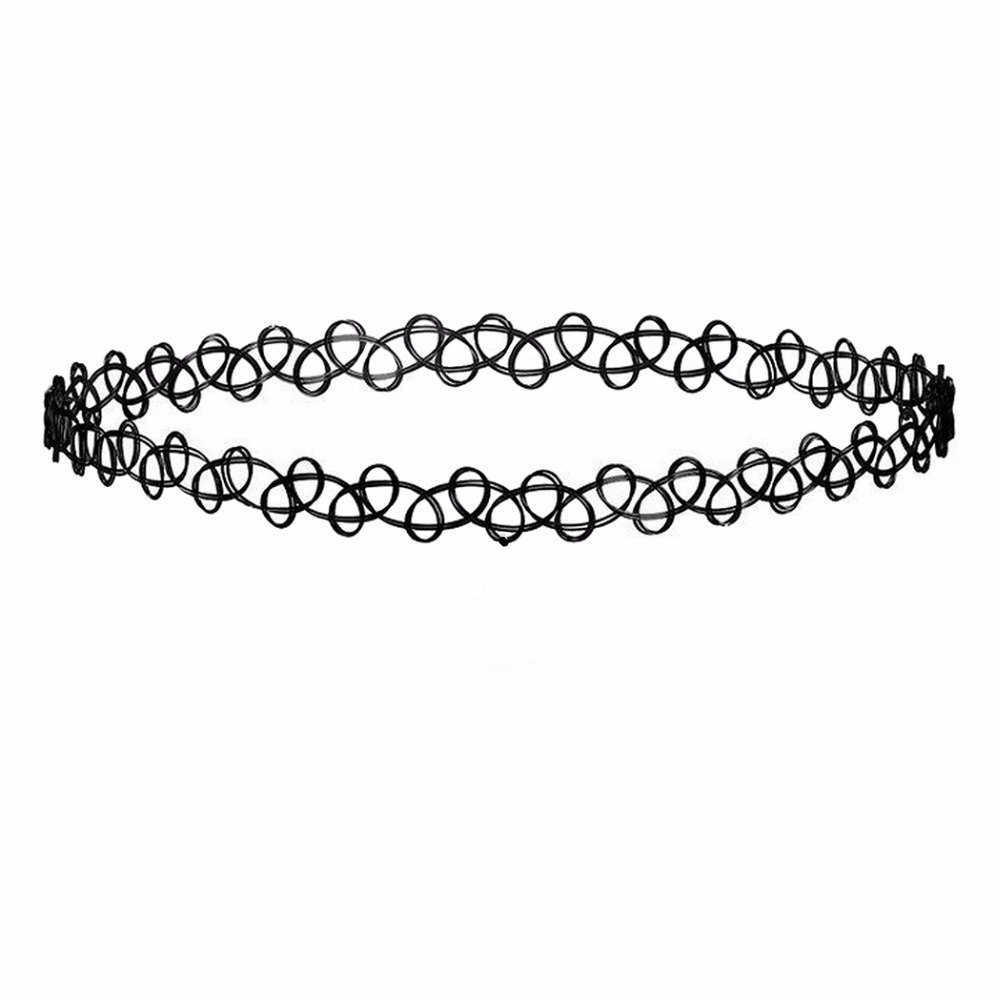 Cxwind moda preto laço gargantilha zircon branco waterdrop coroa pingente colar jóias chocker colar barato pescoço falso jóias