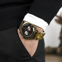 Reloj de madera pulso madera cuarzo para hombre 1