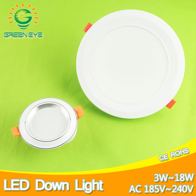 4 ~ 7.5inch 10 ~ 19cm Surface Frosted Led Downlight 3w 7w 12w 18w Ceiling Cave Down Light Warm Nature Cool White AC185-240V 220V