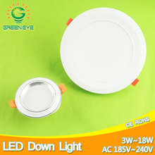 4~7.5inch 10~19cm Frosted Surface Led Downlight 3w 7w 12w 18w Ceiling Recessed Down Light Warm Nature Cool White AC185-240V 220V