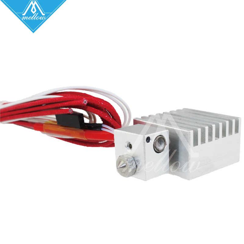 Цельнометаллический v6 HotEnd тепловая головка сопла печатающая головка Chimera экструдер с проводами обновление полный комплект мм для 1,75 мм 3D принтера