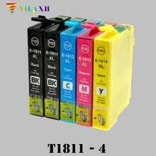 T1811 Ink cartridge For Epson XP212 XP215 XP225 XP312 XP315 XP412 XP415 XP202 XP205 XP302 XP305 XP402 Printer - T1814