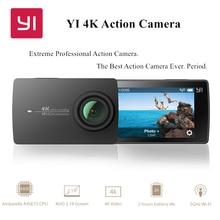 """YI 4พันการกระทำกล้องระหว่างประเทศฉบับที่2 Ambarella A9SE Cortex-A9 ARM 12MP CMOS 2.19 """"155องศาEIS LDC WIFI"""