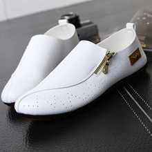 hot deal buy kailon addy brand summer men's hollowed breathable bean shoes men's shoes lazy shoes single shoes inverness men casual shoes man