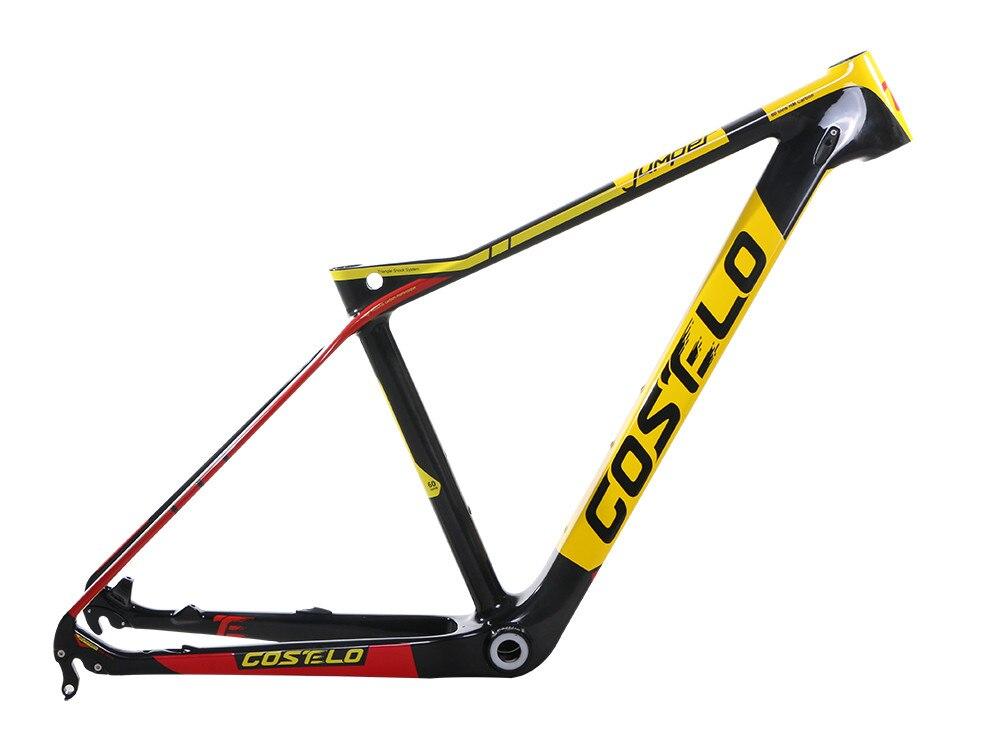 все цены на 2018 COSTELO Jumper 27.5 650B Mtb Mountain Bike Bicycle carbon frame headset clamp bici telai in carbonio velo race bicycle онлайн