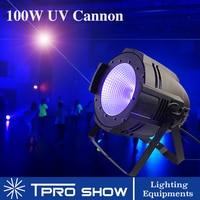 DJ UV Light COB UV Cannon Dmx LED Black Light Strobe Dimming Sound Party Lights for Disco/Dj/Stage/Club 100W Blacklight Show