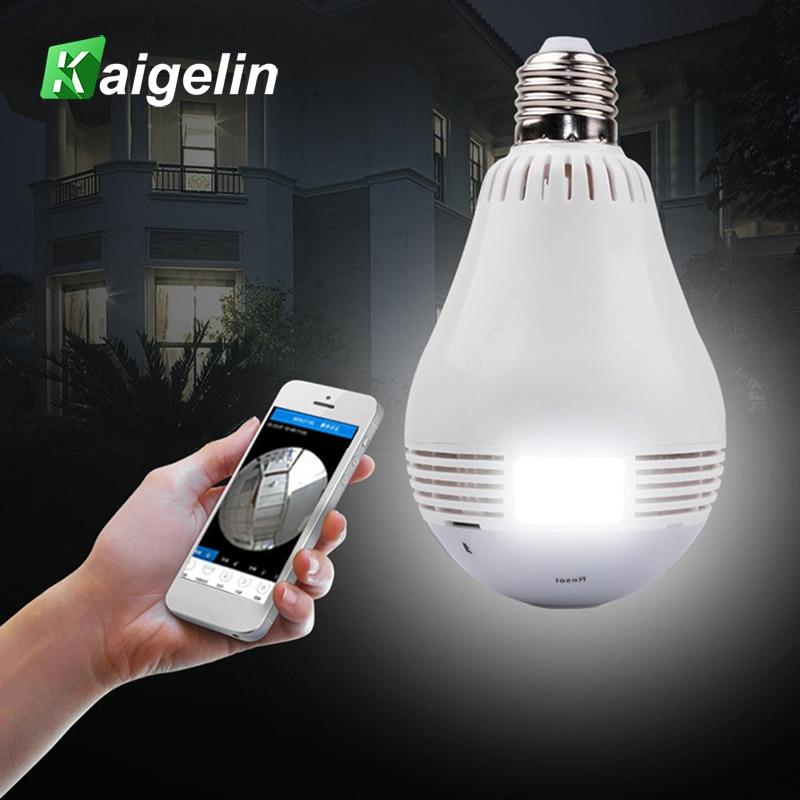 2MP WIFI Maison Intelligente LED Lumière Ampoule E27 Sans Fil Caméra de Surveillance À Distance Réseau HD Mobile Téléphone 360 Degrés Panoramique Moniteur