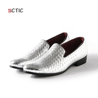 2017 New Arrival Luxurious Vintage Retro Poninted Toe Penny Loafer Classic Elegant Dress Shoes Male Business