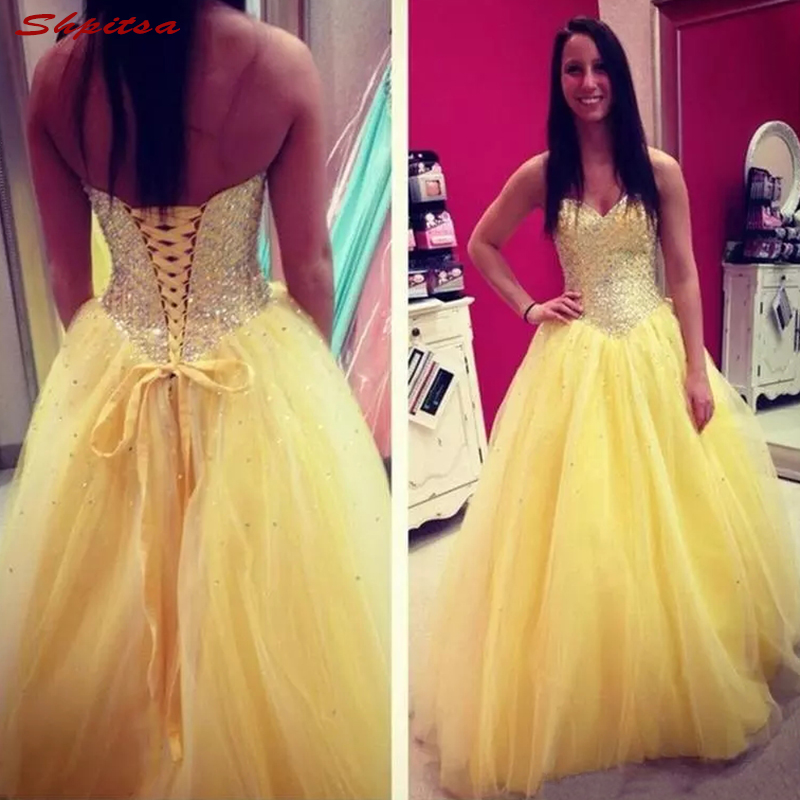 Yellow Mother Of The Bride Dresses For Wedding Plus Size Bride A Line Beaded Evening Gowns Groom Godmother Dinner Dresses 2018