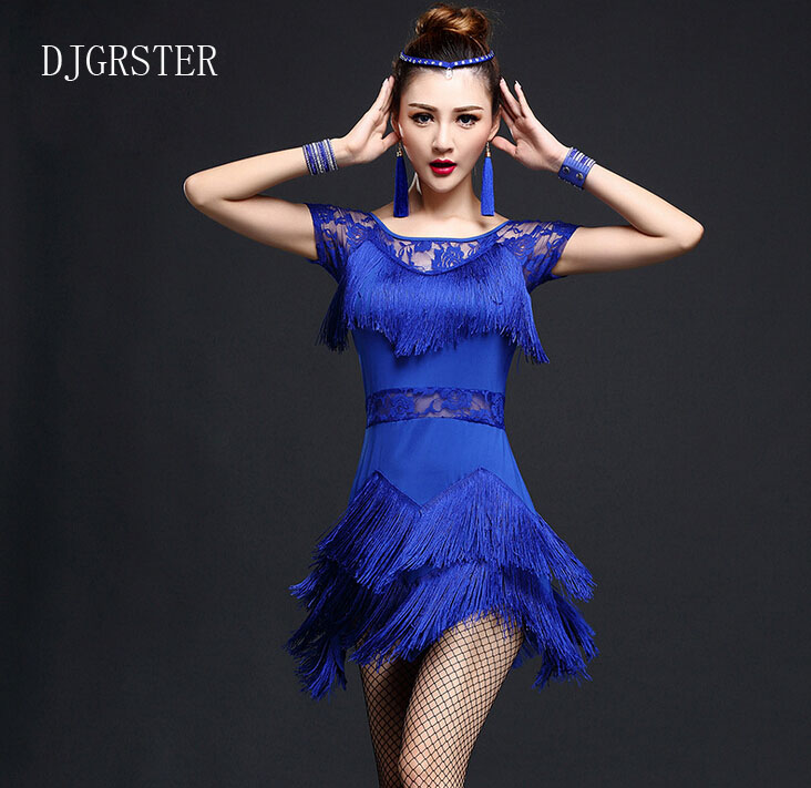 518d57ef5e025 Aliexpress.com : Buy Latin Dance Dress Hot sale Rumba Jive Chacha Ballroom  Girls Women ,fringe Latin dance dress,salsa dress Black red blue,rose red  from ...