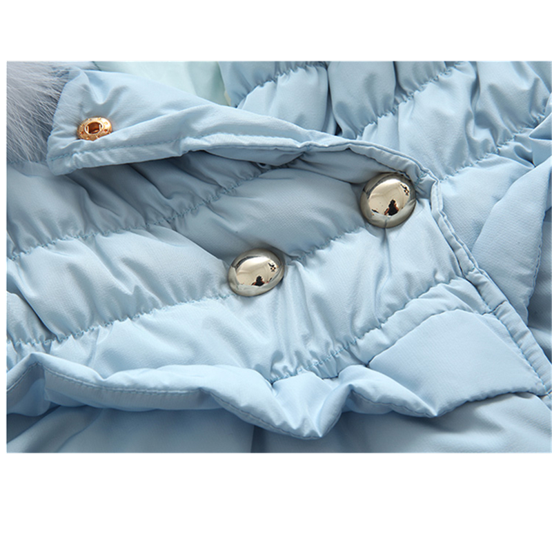 Haut Femelle Rembourré Gamme Fourrure Chaud Coton Épaississement En Wathet Col Hiver De Vêtements Amovible Renard Lcy792 Mode Survêtement Nouvelle Femmes q5pftwt6