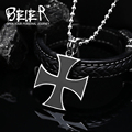 Beier Wholesale Stainless Steel Unique Fashion Iron Cross Necklace Pendant For Man and Woman BP8-145